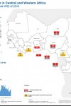 Cholera Outbreaks in Central and West Africa - Cumulative situation at week 52 of 2016